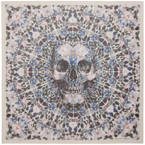 butterfly skull scarf